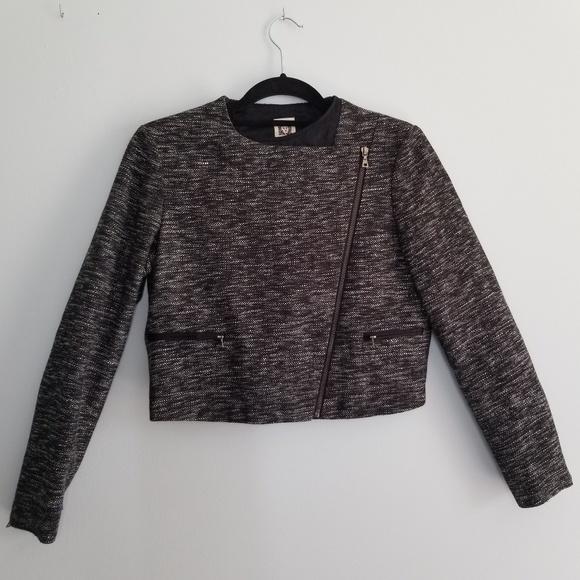 Anne Klein Jackets & Blazers - Anne Klein tweed cropped moto blazer sz 4